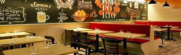 Pizza emporio invita a los medios de comunicaci n barra for Decoracion pizzeria