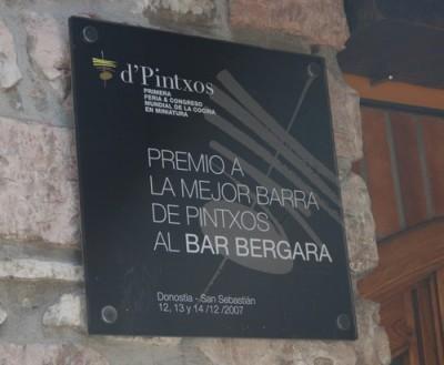 Bar Bergara en Donostia